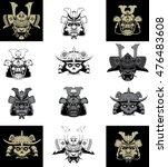 samurai mask | Shutterstock .eps vector #476483608