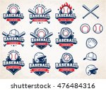 collection of nine colorful... | Shutterstock .eps vector #476484316