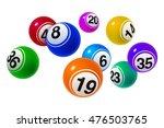 vector bingo   lottery number... | Shutterstock .eps vector #476503765