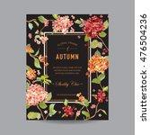 vintage floral frame   autumn... | Shutterstock .eps vector #476504236