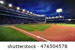 illuminated baseball stadium... | Shutterstock . vector #476504578
