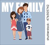 cartoon family with two... | Shutterstock .eps vector #476505742