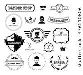 vector set of vintage barber... | Shutterstock .eps vector #476510806