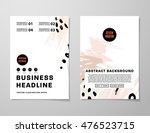 cover template with abstract... | Shutterstock .eps vector #476523715
