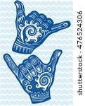 shaka hand sign  | Shutterstock .eps vector #476524306