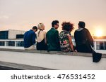 rear view shot of young men and ... | Shutterstock . vector #476531452