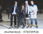 halloween party at ice skating... | Shutterstock . vector #476534926