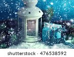 christmas decoration with... | Shutterstock . vector #476538592