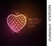 World Heart Day Background. 3d...