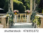 the vases with flowers  are on...   Shutterstock . vector #476551372
