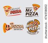 pizza logo template concept.... | Shutterstock .eps vector #476558002