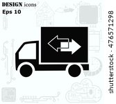 delivery sign icon  vector... | Shutterstock .eps vector #476571298