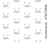 black muzzle cat pattern face... | Shutterstock .eps vector #476573956