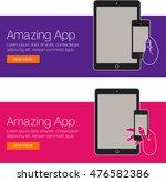 cover design of app for website ... | Shutterstock .eps vector #476582386