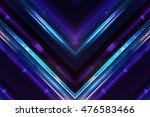 Stylish Kaleidoscope Dark Blue...