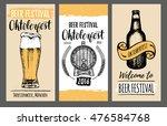 oktoberfest flyers. beer... | Shutterstock .eps vector #476584768