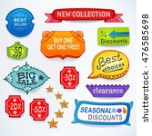 colored set of promotional... | Shutterstock . vector #476585698