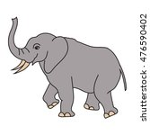 vector of elephant  | Shutterstock .eps vector #476590402