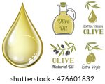 vector realistic drop of olive... | Shutterstock .eps vector #476601832