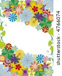 background with colored flowers ... | Shutterstock .eps vector #4766074