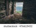 cow shed in the italian alps | Shutterstock . vector #476615452