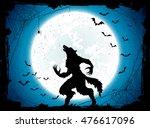 dark halloween background with... | Shutterstock . vector #476617096