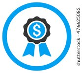 business award rounded icon.... | Shutterstock .eps vector #476625082