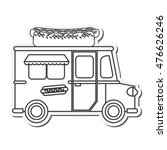 hot dog truck delivery fast... | Shutterstock .eps vector #476626246