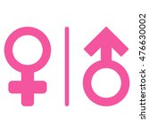 wc gender symbols icon. vector... | Shutterstock .eps vector #476630002