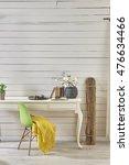 wood interior wall decor | Shutterstock . vector #476634466