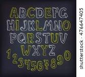 hand drawn vector letters set ... | Shutterstock .eps vector #476647405