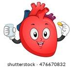 mascot illustration of a heart... | Shutterstock .eps vector #476670832