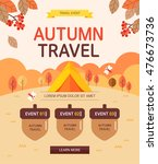 autumn travel | Shutterstock .eps vector #476673736
