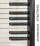 top view of piano keys... | Shutterstock . vector #476673952