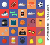 sports and nutrition vector... | Shutterstock .eps vector #476681596