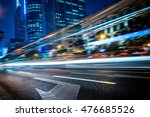 city view at night with traffic ... | Shutterstock . vector #476685526