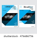 annual business report cover... | Shutterstock .eps vector #476686756