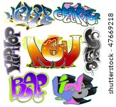 graffiti vector design. urban... | Shutterstock .eps vector #47669218