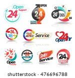 24 hours open customer service... | Shutterstock .eps vector #476696788