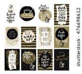 fresh organic coffee set.... | Shutterstock .eps vector #476698612