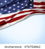 american flag on blue background | Shutterstock . vector #476706862