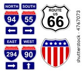 american interstate signs with... | Shutterstock .eps vector #4767073