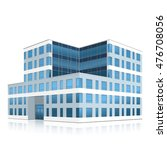 office building with entrance... | Shutterstock .eps vector #476708056