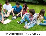 group of college students... | Shutterstock . vector #47672833