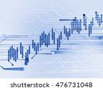 financial stock market graph on ... | Shutterstock . vector #476731048