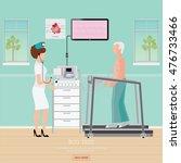 ecg test or exercise stress... | Shutterstock .eps vector #476733466