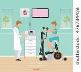 ecg test or exercise test for... | Shutterstock .eps vector #476734426