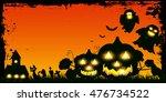 halloween pumpkin ghost... | Shutterstock .eps vector #476734522