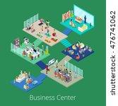 isometric business office... | Shutterstock .eps vector #476741062