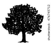 silhouette detached tree maple... | Shutterstock .eps vector #476745712
